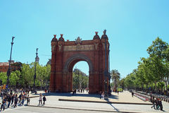 Båge de Triomf Barcelona Royaltyfri Foto