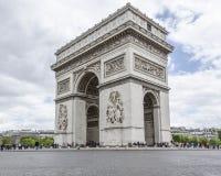 Båge de Triumfera i Paris, Frankrike Arkivfoto