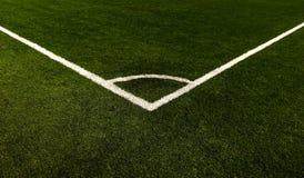 Båge för hörn för fotbollfält Royaltyfri Foto