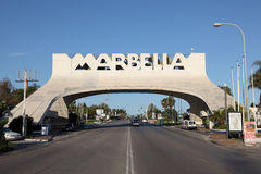Båge i Marbella, Spanien Arkivbilder