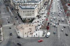 båge mästare de elysees panoramatriomphe Arkivfoto