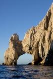 Båge på landslutet i Cabo San Lucas, Mexico Fotografering för Bildbyråer