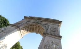 Båge på Washington Square Park Fotografering för Bildbyråer