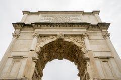 Bågen av Titus i Rome Royaltyfri Fotografi