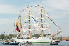BÅGEN Gloria - segla Amsterdam 2015 Royaltyfria Foton