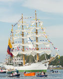 BÅGEN Gloria - segla Amsterdam 2015 Royaltyfria Bilder