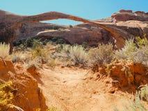 bågen välva sig den fina nationalparken Arkivbilder