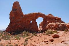 bågen välva sig nationalparkturreten Royaltyfri Fotografi