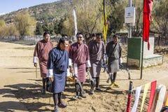 bågskytte bhutan Royaltyfri Bild