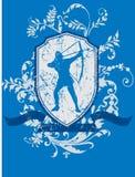 bågskyttsköld Royaltyfri Illustrationer