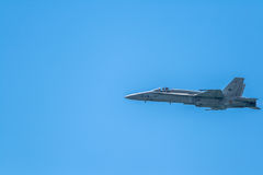 Bålgeting för flygplan F-18 Fotografering för Bildbyråer