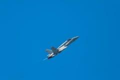 Bålgeting för flygplan F-18 Royaltyfria Foton