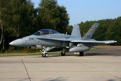 BÅLGETING FÖR SCHWEIZARE F -18 Fotografering för Bildbyråer