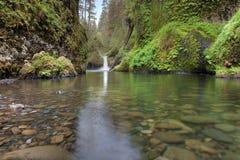 Bålskålnedgångar på Eagle Creek royaltyfri fotografi