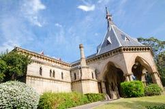 Bårhusjärnvägsstationen, var en järnvägsstation på linje för kyrkogård för Sydney ` s Rookwood järnväg royaltyfri foto