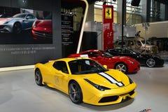 Båset av Ferrari supercars Royaltyfria Bilder
