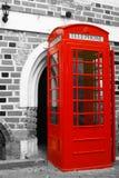 båsredtelefon Royaltyfri Foto