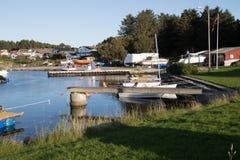 Båter. Available berths at the marina Royalty Free Stock Image