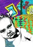 Bébé à regarder image libre de droits