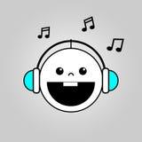 Bébé écoutant l'icône de musique illustration libre de droits