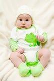 Bébé étonnant avec les joues potelées photos libres de droits