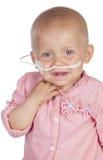 Bébé adorable battant la maladie photos libres de droits