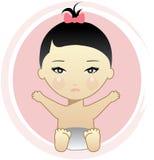 Bébé asiatique Images libres de droits