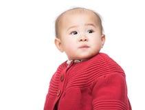 Bébé asiatique d'isolement images libres de droits