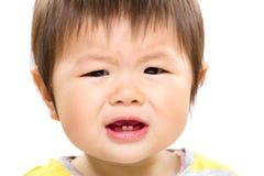 Bébé asiatique se sentant fâché Photographie stock libre de droits
