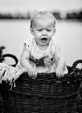 Bébé au lac Photographie stock libre de droits
