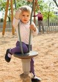 Bébé au secteur de terrain de jeu Photo libre de droits