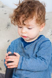 Bébé avec le distant Photo libre de droits