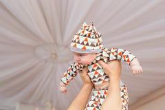 Bébé caucasien adorable Portrait d'un bébé garçon de trois mois Photos libres de droits