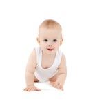Bébé curieux de rampement Images stock