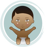 Bébé d'Afro-américain Illustration de Vecteur