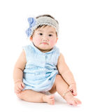 Bébé d'Asain se sentant triste Image stock