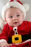 Bébé dans l'équipement du père noël Image libre de droits