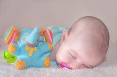 Bébé dans le bleu Photographie stock