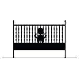 Bébé dans le symbole de huche et l'illustration de vecteur d'icône Photos libres de droits