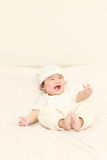Bébé dans une bonne humeur Images libres de droits