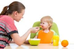Bébé de alimentation de mère image libre de droits