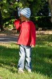 Bébé de couleur avec le chapeau Image libre de droits