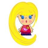 Bébé de dessin animé. gosse blondy Photos libres de droits