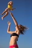 Bébé de Jid en haut et en bas Photo stock