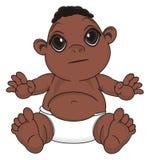 Bébé de nègre avec émotion illustration libre de droits