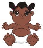 Bébé de nègre avec émotion illustration stock
