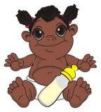 Bébé de nègre avec la boisson illustration libre de droits