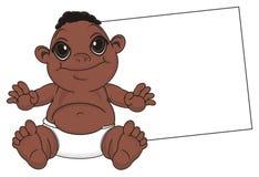 Bébé de nègre avec le papier propre illustration libre de droits