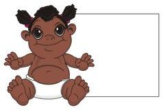 Bébé de nègre avec le plat propre illustration de vecteur