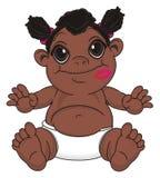 Bébé de nègre avec un baiser illustration libre de droits